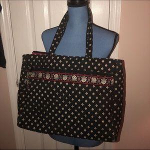 Vera Bradley Classic Black Metropolitan Metro Bag